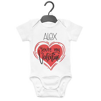 You're My Valentine Personalised Baby Grow Vest Custom Funny Gift Valentines Day