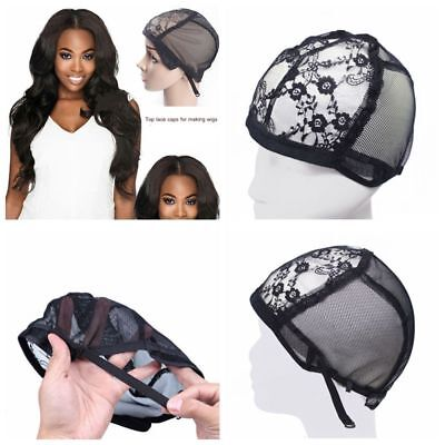 Breathable Adjustable Straps Wig Hair Net Hair Mesh Weaving Caps Lace Snood