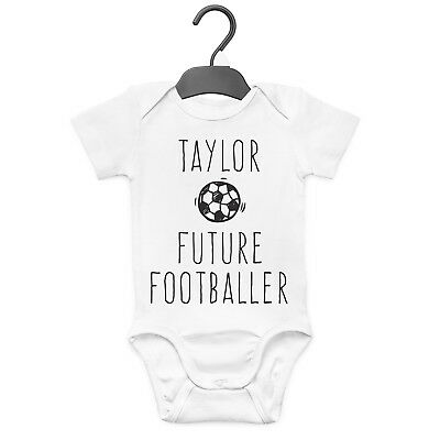 Future Footballer Personalised Baby Grow Vest Custom Funny Gift Cute