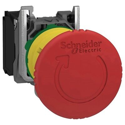 Schneider XB5AS8442 1NC Latching E-Stop Switch