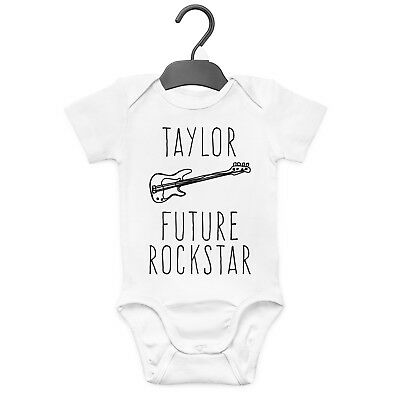 Future Rockstar Personalised Baby Grow Vest Custom Funny Gift Cute