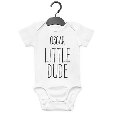 Little Dude Personalised Baby Grow Vest Custom Funny Gift Cute