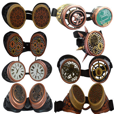 Hand finished Steampunk Goggles | Cosplay Unique Goggles | Brass Goggles