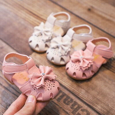 Toddler Kids Baby Girls Children Elegant Bowknot Flower Princess Shoes Sandals