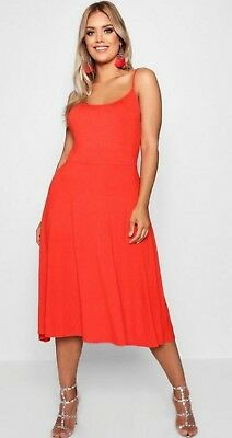 0c4548dfac58 Boohoo orange sleeveless dress uk 16 summer dress plus size comfy light