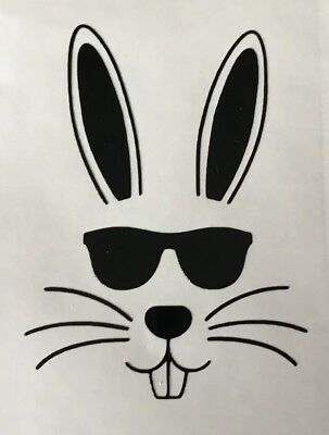10 Easter Bunny Vinyl Glass Stickers Decals Crafts Etching Rabbit Girls Boys