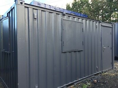 16 x 8ft Anti Vandal Site Office / Site Cabin / Portable Building / Canteen