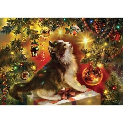 Christmas Dogs Puppies Cats kittens WINTER TALE #62 New modern Postcards