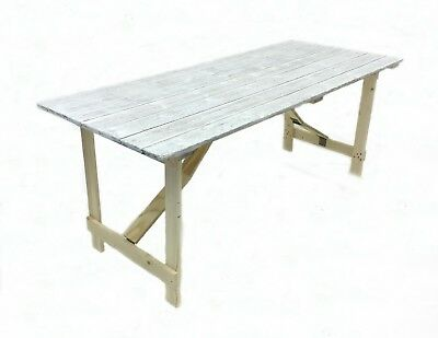 New Distressed look 6' x 2'6'' Wooden trestle table, shabby chic tables, rustic