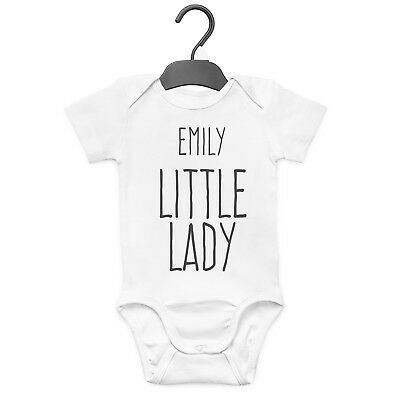Little Lady Personalised Baby Grow Vest Custom Funny Gift Cute