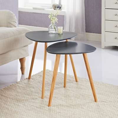 Set of 2 Bjorn Tables Stylish & Compact Nest Of Tables Add Style To Your Home