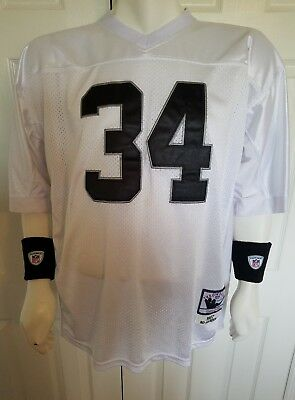 Mitchell   Ness Oakland Raiders Bo Jackson 34 NFL Throwback Jersey Mens Size  (56 53b8bbdd9