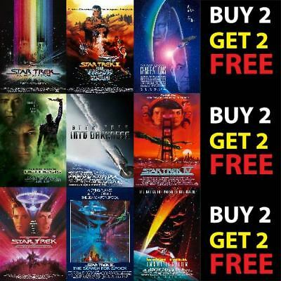 STAR TREK MOVIE FRANCHISE SCI FI POSTERS A4 A3 300gsm Paper FILM WALL ART DECO
