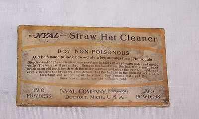 Vintage Nyal Straw Hat Cleaner-Packets-Hat Accessories-Detroit Michigan