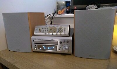 Denon UD-M31 HiFi Stereo CD Tuner Aux Micro System + Remote & Mission speakers