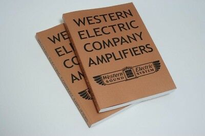 Western Electric Company Amplifiers Book for Speaker Sound System