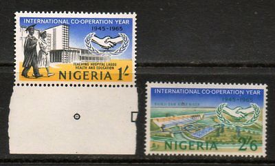 Nigeria 1965 International Co-Operation Year - 2 High Value Mint Stamps