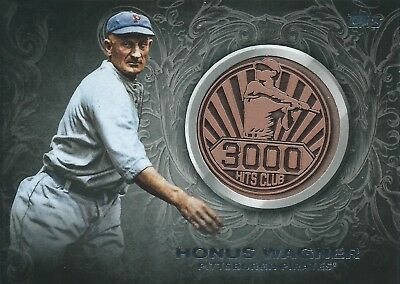2016 Topps Update Series Medallion Coin Relic #3000M-4 Honus Wagner 3000 Hits