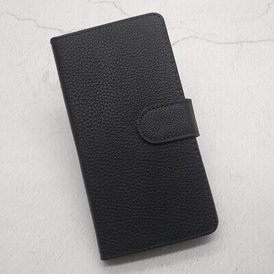 Samsung Silicone Phone Case Black Luxury Flip Stand Leather Cover Wallet Case
