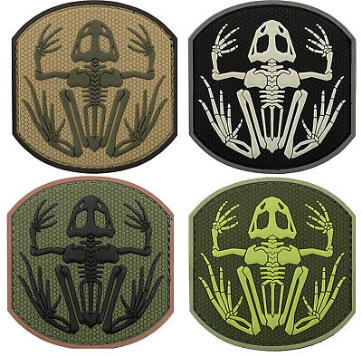 Morale patch PVC skeleton frog Navy Seals DEVGRU airsoft militar