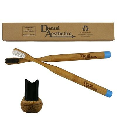Orthodontic Bamboo Toothbrush ~ V-Trim Cut Bristle Bio-Degradable Eco for Braces