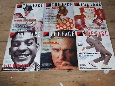 The Face Magazine Issues 84-89 Apr to Sept 1987 in Good Condition