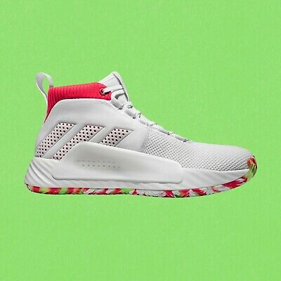 new style 21e95 ffc74 adidas Dame 5 BB9312 All Skate Lillard White Red Blazers Men Basketball  Shoes DS