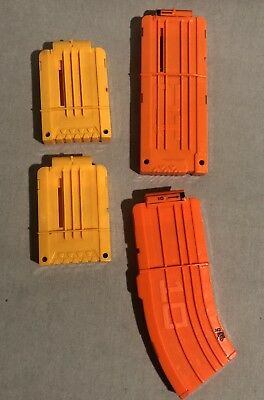 Lot Of Four 6,10,12 Dart Magazine Clip System for Nerf N-strike Elite Toy Gun