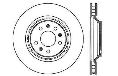 Centric Parts 121.62084 Front Disc Brake Rotor
