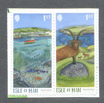 Isle of Man-Green Mann Self-adhesive set mnh  2017