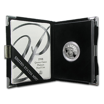 1998-W 1/4 oz Proof Platinum American Eagle (w/Box & COA)