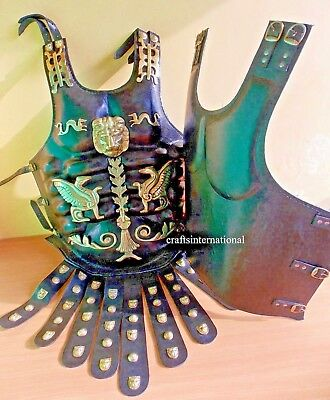 Greek Leather Medieval Muscle Armor Collectible Wearable Heavy Chestplate