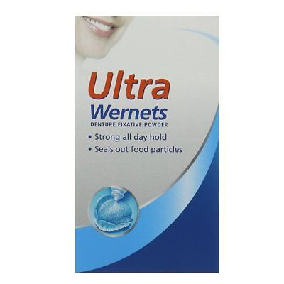 Wernets Ultra Polygrip Adhesive Denture Care Fixative Powder - 40g
