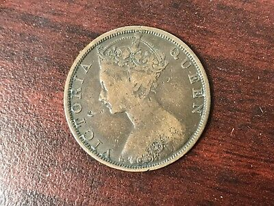 1881 Hongkong 1 Cent world coin good condition