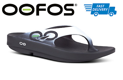 605533552be0 🇺🇸OOFOS OORIGINAL SPORT Sandals Flip Flop Recovery Thong Black Cloud  White NEW
