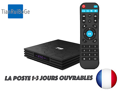 T9 Android 8.1 4GB+32GB/64GB Quad Core Smart TV BOX 2.4G WIFI Lecteur Multimédia