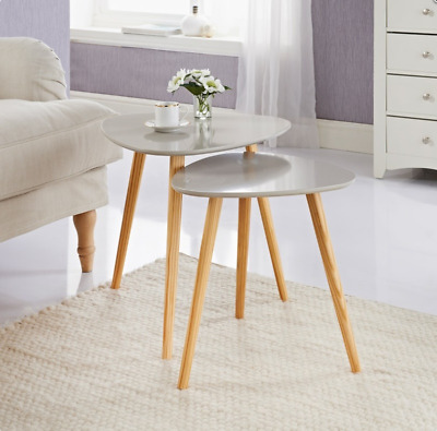 Set of 2 Bjorn Tables Stone Stylish Nest Of Tables Add Style To Your Home