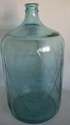 VTG Bastanchury Family Indian Head Yosemite 5 Gal Blue Glass Water Jug Carboy
