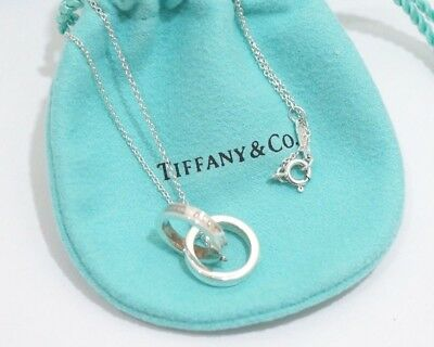 Tiffany & Co. Sterling Silver 1837 Interlocking Circles Necklace 16""