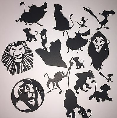 Die Cut Shapes Disney Inspired Lion King (x16).Ideal For Fairy Jars