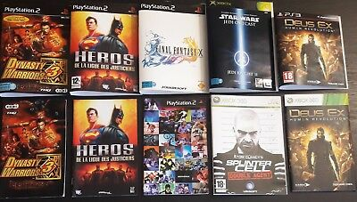 Lot - Jaquette - Notice - Nintendo Wii - Sony Playstation - Microsoft Xbox