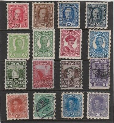 AUSTRIA ROYALTY SERIES 1908 to 1918 - LOT #12