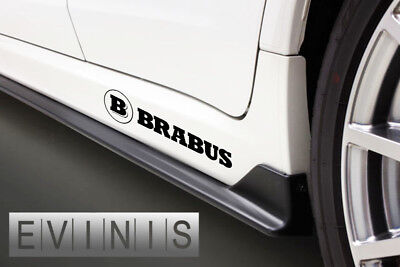 BRABUS 2x Side Skirt Stickers Car Decals Graphics DEFAULT BLACK