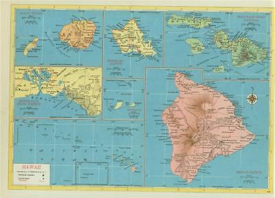 photograph relating to Printable Map of Oahu identified as Ancient 1952 HAWAII Maui Oahu Kauai Rr Railroad Map Exhibits All Hi there Rr + Print