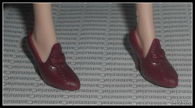Shoes Barbie Doll Mary Poppins Returns Ornate Burgundy High Heels Shoe Accessory