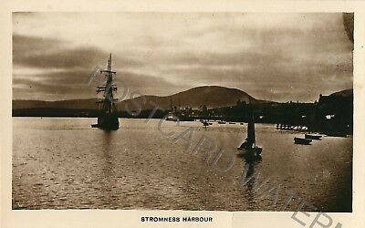 Orkney Stromness Harbour Atmospheric Real Photo