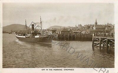 Orkney Off In The Morning Stromness Shipping Interest Real Photo