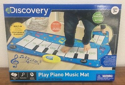 NEW IN BOX Discovery Kids Play Piano Music Mat With Built in Songs Learn Fun