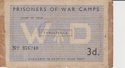 WWII Great Britain , British Prisoners of World War Camps 3 Three Pence