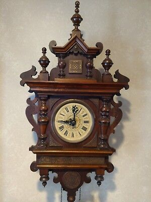 """Antique-Black Forest-Vienna Style-fancy wood-Cuckoo Clock-""""Rain Brings Blessings"""